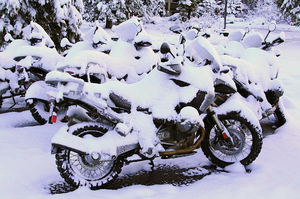 Зимнее хранение мотоцикла в гараже