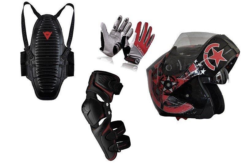 Экипировка: защита колен и головы (scoyco k12, шлем мотард)