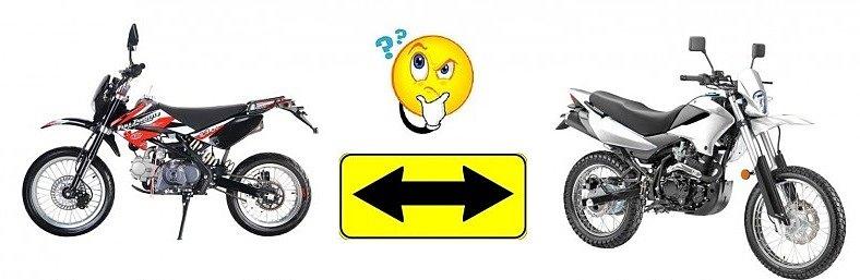 Что лучше питбайк или эндуро? Что выбрать питбайк или эндуро?