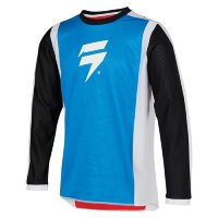 Мотоджерси подростковая Shift Whit3 Race 2 Youth Jersey White/Red/Blue S (24166-574-S)