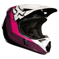Мотошлем подростковый Fox V1 Halyn Youth Helmet Black/Pink L 50.8-52.1cm (19546-285-L)