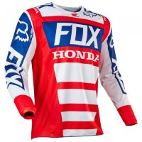 Мотоджерси Fox 180 Honda Jersey Red/White L (17263-054-L)