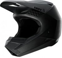 Мотошлем Shift White Helmet Matte Black S (19334-255-S)