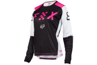 Мотоджерси женская Fox Blackout Womens Jersey Black/Pink S (12337-285-S)