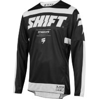 Мотоджерси Shift Black Strike Jersey Black/White L (19311-018-L)
