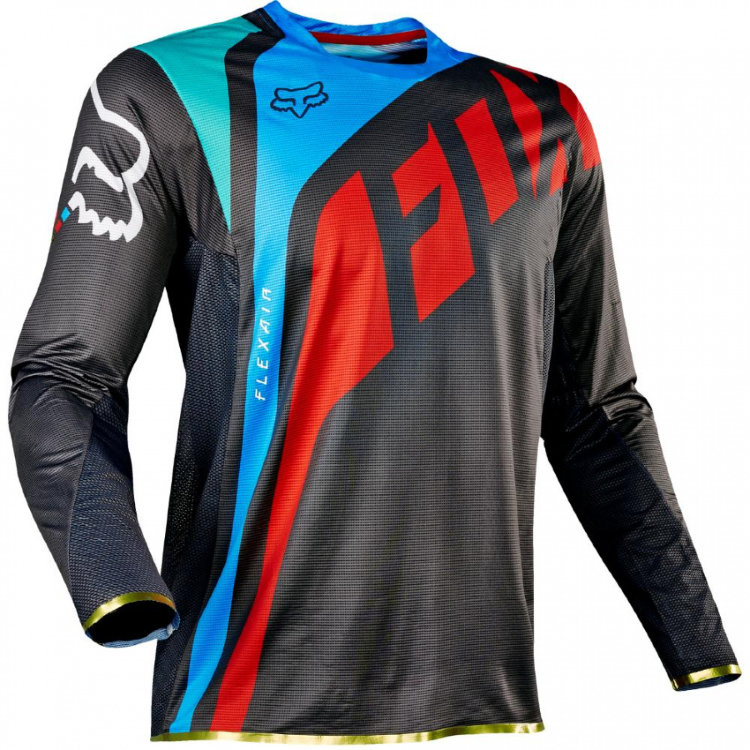 Мотоджерси Fox Flexair Seca Jersey Grey/Red XXL (17239-037-2X)