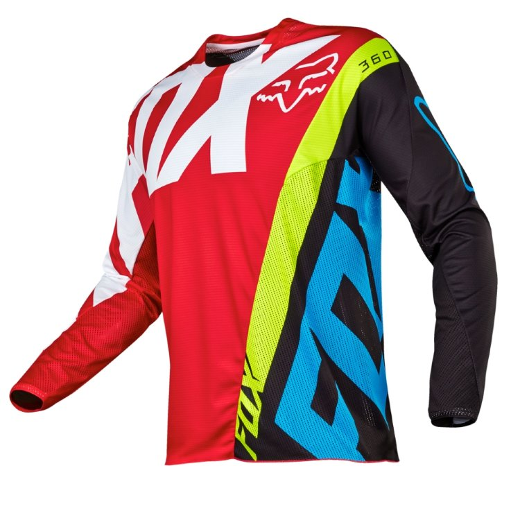 Мотоджерси Fox 360 Creo Jersey Red L (17245-003-L)