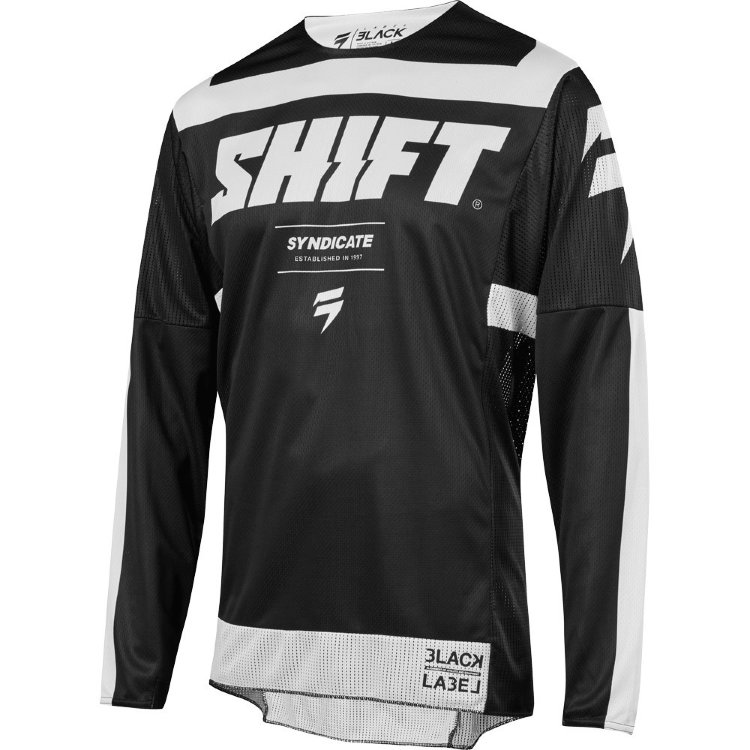 Мотоджерси Shift Black Strike Jersey Black/White XXL (19311-018-2X)