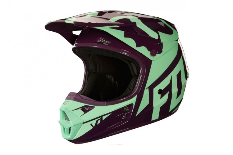 Мотошлем Fox V1 Race Helmet Green XS 53-54cm (19532-004-XS)
