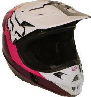 Мотошлем Fox V1 Halyn Helmet Black/Pink XS 53-54cm (19536-285-XS)