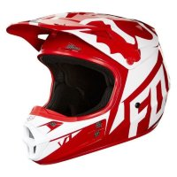 Мотошлем Fox V1 Race Helmet Red XS 53-54cm (19532-003-XS)