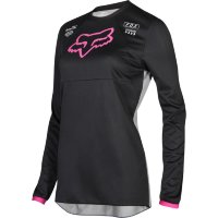 Мотоджерси женская Fox Switch Womens Jersey Black/Pink L (19465-285-L)