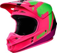 Мотошлем Shift White Tarmac Helmet Black/Pink XL (17232-285-XL)