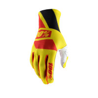 Мотоперчатки 100% Celium Glove Yellow/Red L (10005-067-12)