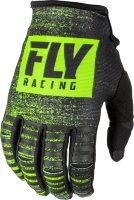 Перчатки FLY RACING KINETIC NOIZ черные/Hi-Vis желтые (2019)  8