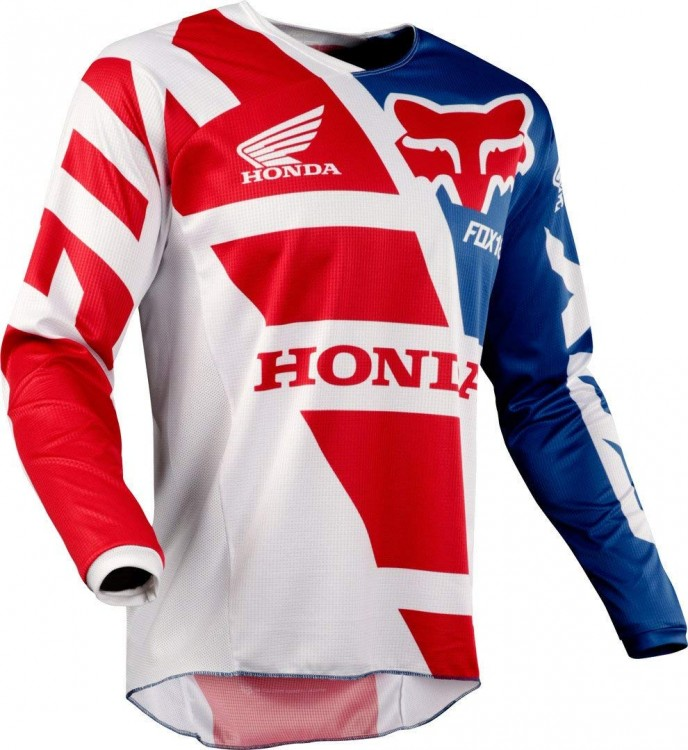 Мотоджерси Fox 180 Honda Jersey Red/White M (17263-054-M)
