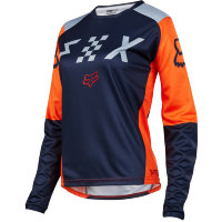 Мотоджерси женская Fox Switch Womens Jersey Grey/Orange L (19465-230-L)